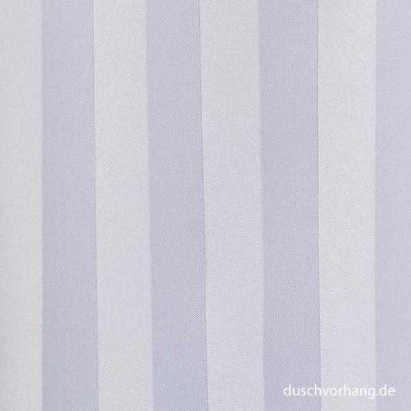 Textile Shower Curtain 180x200 White Trevira CS Satin Stripes