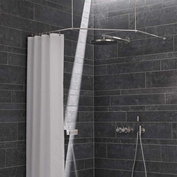 trapeze shower rod corner shower