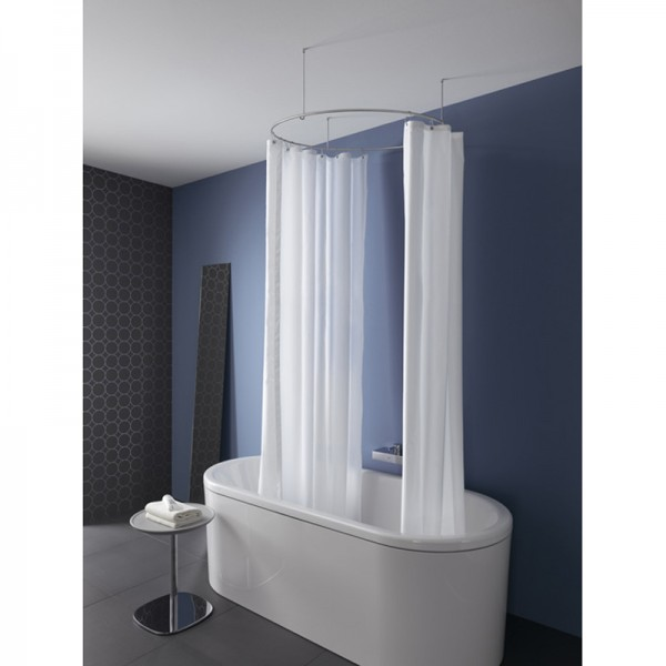 Shower Curtain Rod Circle Round DR 90 - Ceiling Hold Only - Stainless Steel