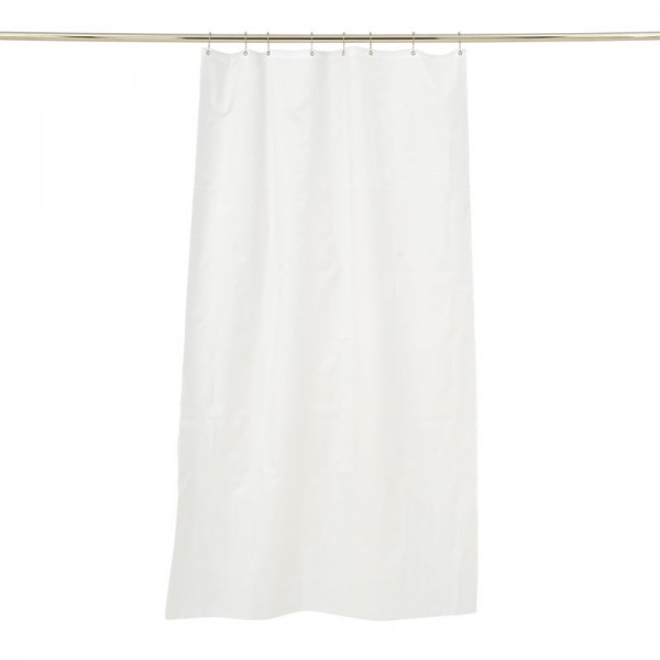 Textile Shower Curtain 100x200 White Trevira CS