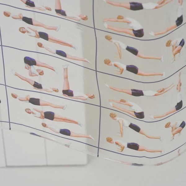 Plastic Shower Curtain 180x180 Pilates
