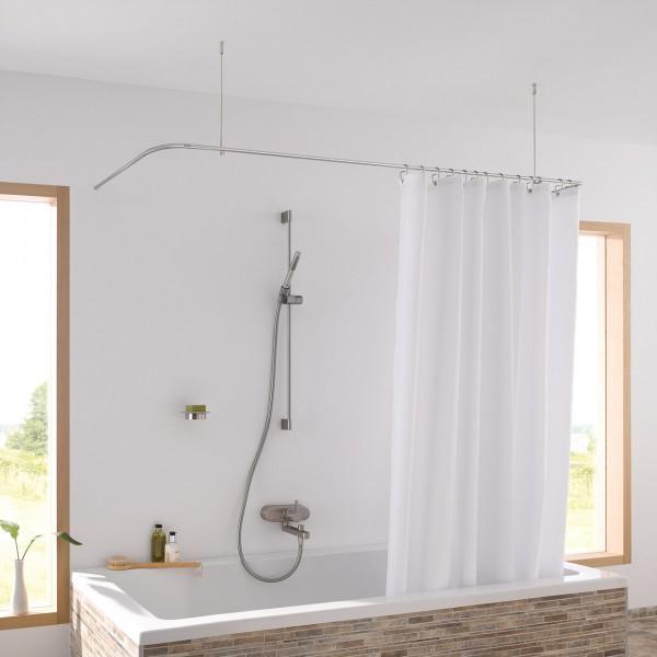 Shower Curtain Rail U Shape DS U 170-70 - Ceiling Mount - Stainless Steel