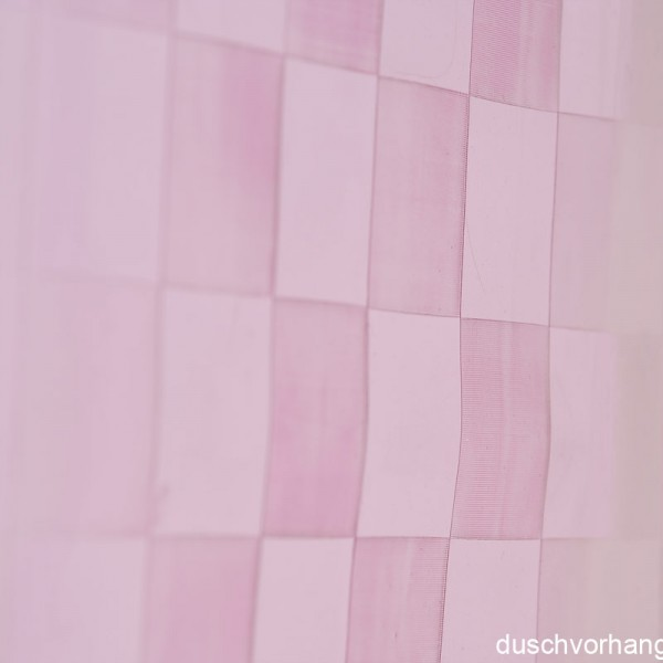 Plastic Shower Curtain 180x180 Chex Pink