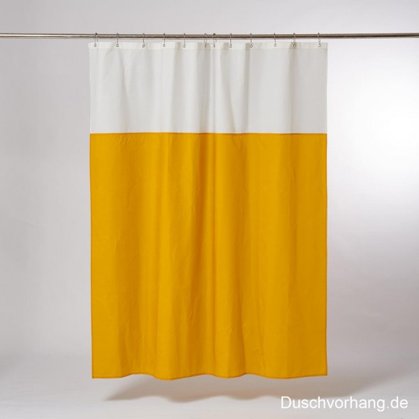 Duwax Textile Eco Friendly Shower Curtain Yellow I Nature