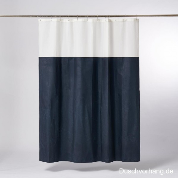 Duwax Textile Eco Friendly Shower Curtain Blue I Nature