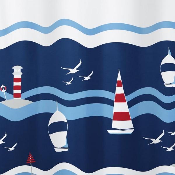 Textile Shower Curtain 180x200 Lighthouse Clipperi