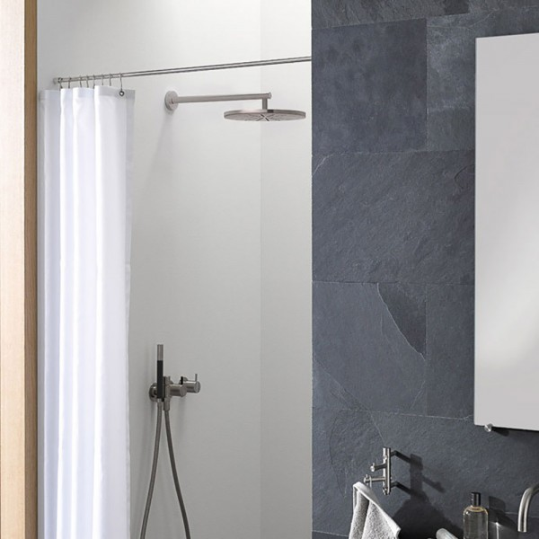 Shower Curtain Bar DSN - &Oslash 12 mm - Wall Mount - Stainless Steel