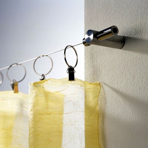 Shower Curtain Wire - Wall Parallel Mount - Stainless Steel