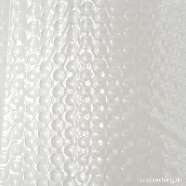 Plastic Shower Curtain 180x180 Bubbles Transparent