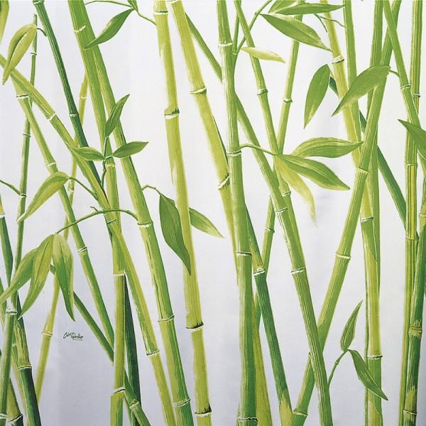 Textile Shower Curtain 180x200 Bamboo Green