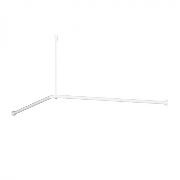Corner shower curtain rail white barrier-free corner shower ceiling mounting