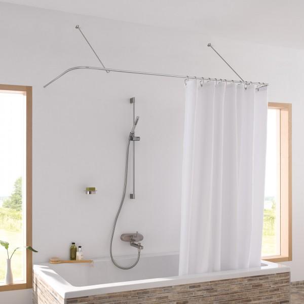 Shower Curtain Rail U Shape DSU170-70 - Wall Mount Only - Stainless Steel
