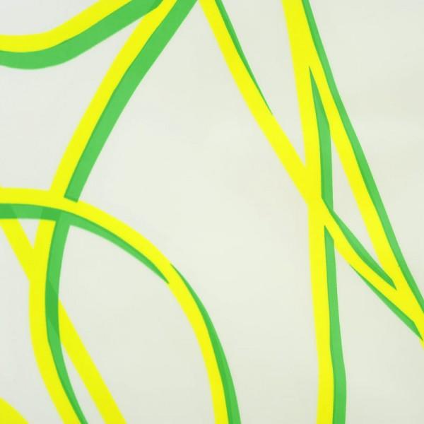Eco-Plastic Shower Curtain 180x200 Spaghetti Green
