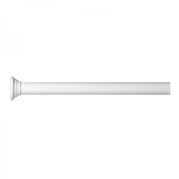 Extendable Telescopic Shower Rod - White Aluminium