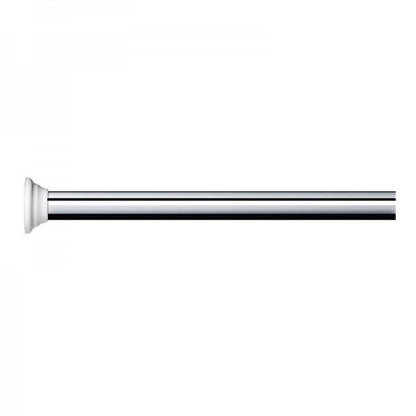 Extendable Telescopic Shower Rod - Polished Aluminium