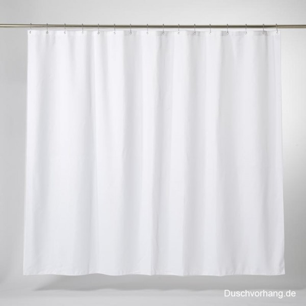 Textile Shower Curtain 260x200 White Trevira CS - Extra Wide Xl