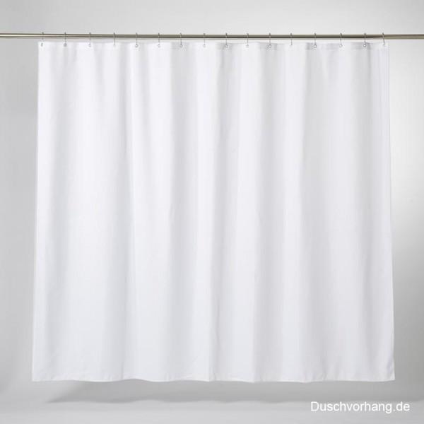 Textil Duschvorhang weiss 200 Breit 200 Lang Trevira