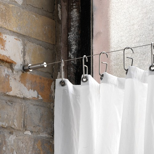 Shower Curtain Wire Cable - Wall To Wall Mount - Stainless Steel