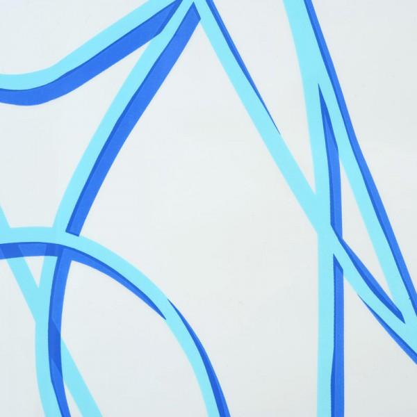 Eco-Plastic Shower Curtain 180x200 Spaghetti Blue