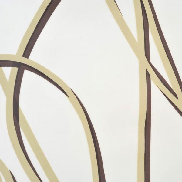 Eco-Plastic Shower Curtain 180x200 Spaghetti Beige Brown