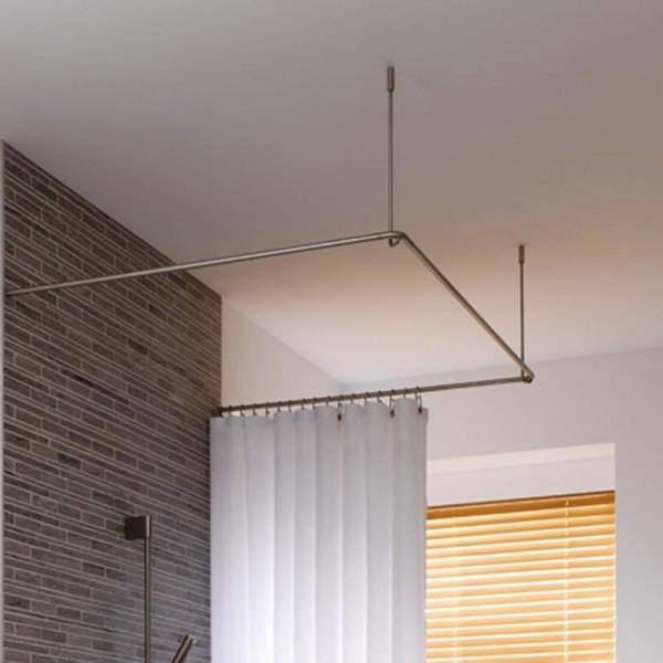 Shower Curtain Rail U Shape DSU900 - Ceiling Mount - Stainless Steel