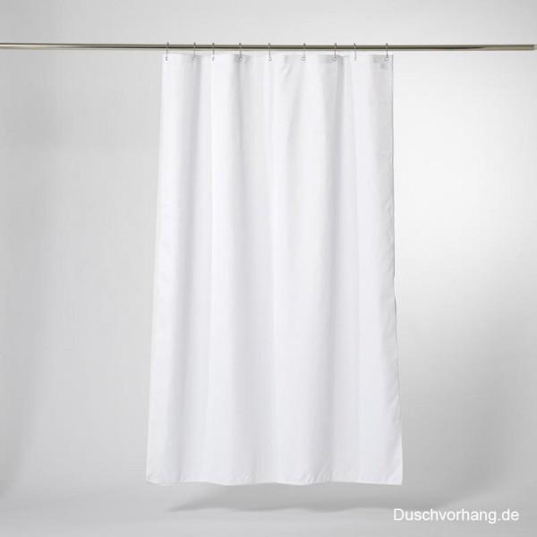 Textile Shower Curtain 100x220 White Trevira CS - Extra Long