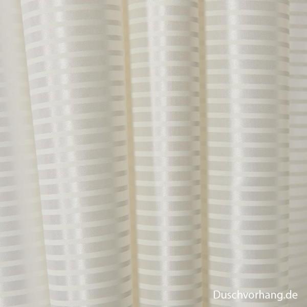 Duschvorhang Textil 240x200 Mini Streifen Quer für Badewanne und begehbare Dusche