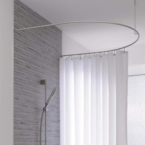 Shower Curtain Rod Half Circle Extended DR50HD100 - Ceiling Mount - Stainless Steel