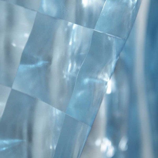 Plastic Shower Curtain 180x180 3d Glass Block Blue