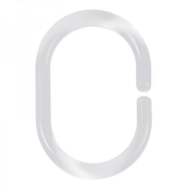 PVC Shower Curtain Hook Plastic Clear Transparent